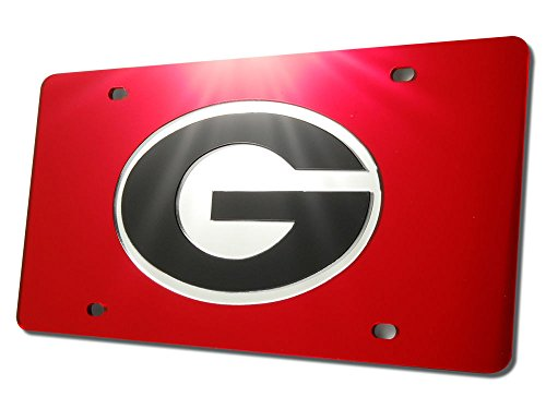 NCAA Georgia Bulldogs Inland Acrylic License Plate (Bulldogs License Plate compare prices)