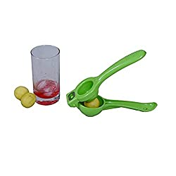 2 in 1 Lemon Squeezer with Bottle Opener attached Premium Quality Citrus Juicer - Stronger Squeezers - Squeeze Lemons, Limes & open bottles Effortlessly - Green