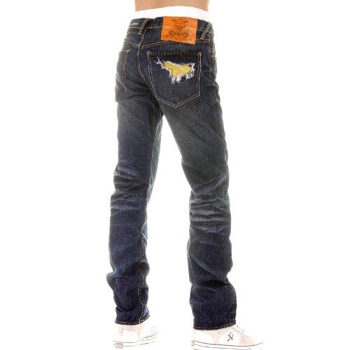 Yoropiko Fujitsu washed denim jeans YORO3972