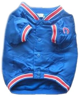 [Sporty K9 Chicago Cubs Dugout Dog Jacket, Medium] (Cubs Fan Costume)