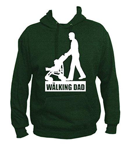 TRVPPY Uomo Maglione Felpa con Cappuccio Hoodie Sweater Modello The Walking Dad, diversi colori e taglia