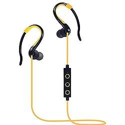 Imported Huast Bluetooth Headset Sports Earphone Yellow