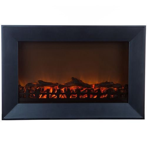 Fire Sense 61535 Wood Frame Wall Mounted Electric Fireplace