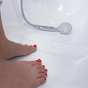 SafeBAD Anti-Rutsch-Sticker, 18 Klebestreifen à 20 x 1,5 cm für Sicherheit in Badewanne & Dusche