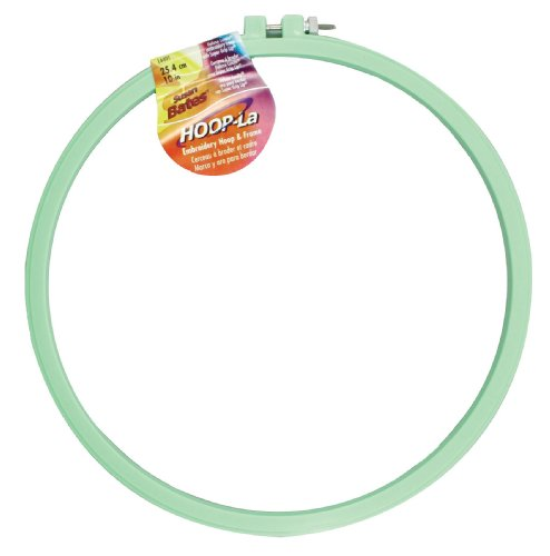 Hoop-La 14401.010 Embroidery Hoop, 10-Inch, Assorted Colors (10 Embroidery Hoop compare prices)