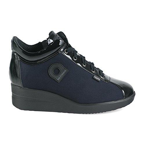 Agile By Rucoline 226 A NEW ULTRA NENE', sneaker donna,scarpe donna,lacci,cerniera,zeppa (37, blu)