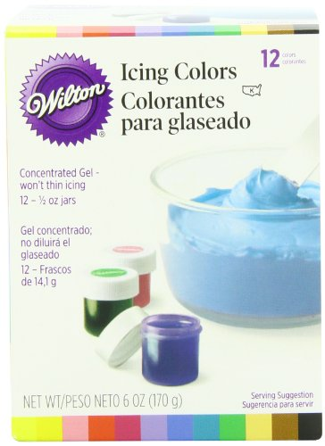 Wilton 601-5580 1/2-Ounce Certified-Kosher Icing Colors, Set Of 12 front-829207