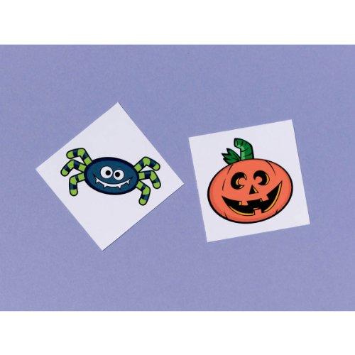 Halloween Favor Pack Temporary Tattoos Parties School Fun Pumpkin Spider 24 Pk