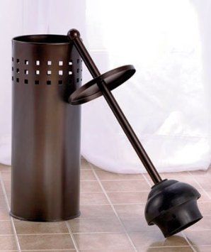 oil rubbed bronze toilet brush and toilet plunger set new ebay. Black Bedroom Furniture Sets. Home Design Ideas