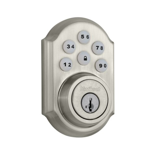 Kwikset 910 Z-Wave Smartcode Electronic Deadbolt Featuring Smartkey In Satin Nickel