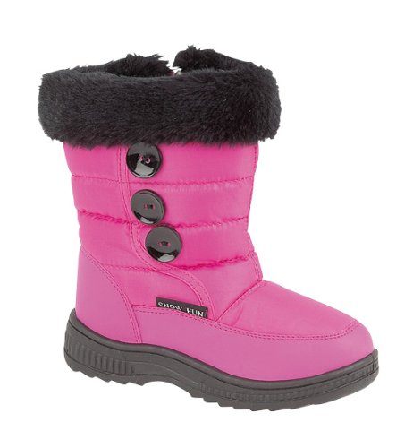 Girls Fleece Lined Snow Boots Size UK 7.5 Eu 25 (Pink)