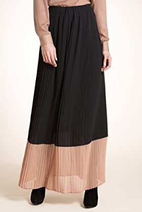 Autograph Pleated Colour Block Maxi Skirt