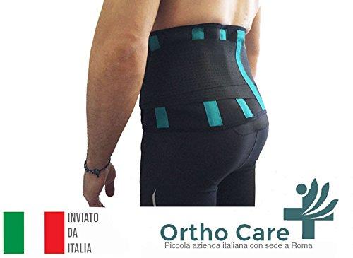 OrthoCare S - Fascia lombare uomo / donna. TAGLIA UNICA. Postura correttore e riabilitazione del dolore e lesioni.