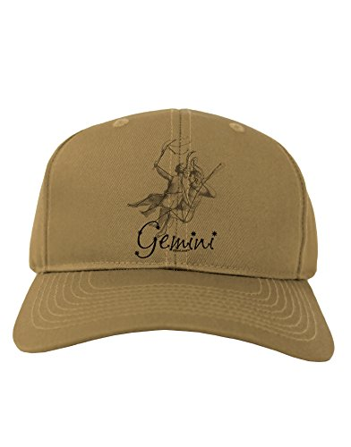 tooloud-gemini-constellation-adult-baseball-cap-hat-khaki