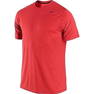 Nike Men's Legend Dri-Fit Poly S/S Crew Top (Lt Crimson, S)