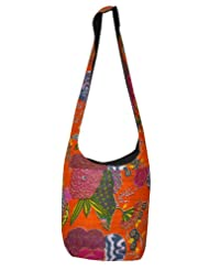 Cotton Fashion Shoulder Bag Adorn Hand Print Thread Work