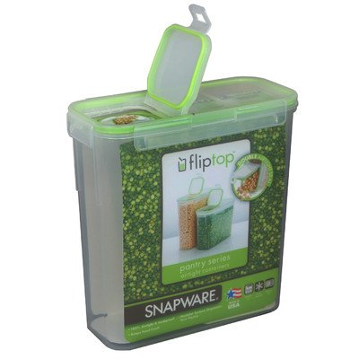 Snapware 1098433 15.3 Cup Slim Flip TopTM Rectangle Storage Container