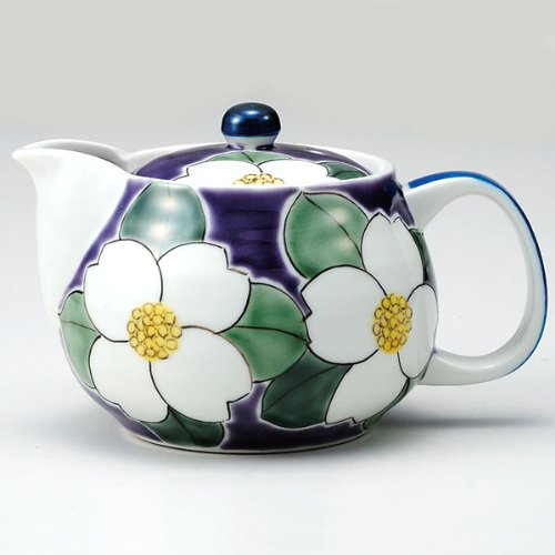 Kutani Yaki(Ware) Japanese Teapot Flower (With Tea Strainer)