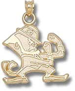 Notre Dame Fighting Irish Leprechaun 3 4 Pendant - 14KT Gold Jewelry by Logo Art