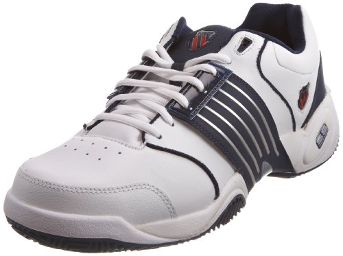 K-Swiss Men's Accomplish White/Navy Tennis Shoe 01805-109-M 11 UK