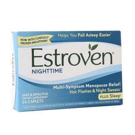 Estroven de nuit Ménopause Capsules Supplément, 24 count (Pack de 3)