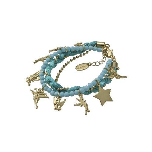 Disney Couture-Braccialetto con ciondoli a campanellino, colore: Turchese