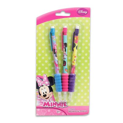 1 piece of MINNIE MOUSE 3pk MECHANICAL PENCILS