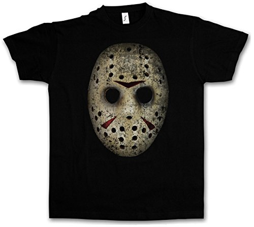 HOCKEY MASK T-SHIRT - Vendredi The 13 Friday Jason Horror 13th Camp Crystal Lake Taglie S - 5XL