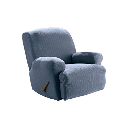 Sure Fit Stretch Pinstripe 1 Piece Recliner Slipcover