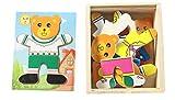 Los juguetes educativos de los ni�os soportan el cambio de ropa de puzzle magn�tico beb� aprendiendo a crear una l�gica para coordinar la capacidad de desarrollar un regalo de cumplea�os(A)