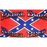 CONFEDERATE FLAG REBEL BORN REBEL BRED ~ Sportsworld
