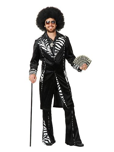 Charades New Mens Pimp Daddy Ho Gigolo Halloween Costume