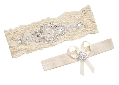 Wedding Bridal Garter Set White Ivory Lace Ivory L (21