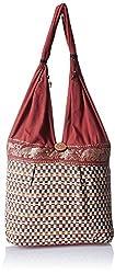 Womaniya Women's Handbag (Brown) (Handicraft Jhola Bag)