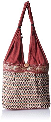 Womaniya Women's Handbag (Brown) (Handicraft Jhola Bag)  available at amazon for Rs.159