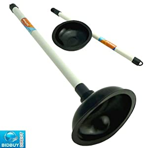 new quality sink plunger plastic detachable pole perfect for toilet show. Black Bedroom Furniture Sets. Home Design Ideas
