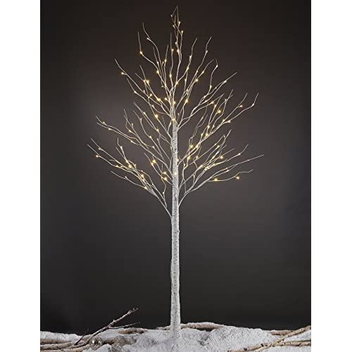 Lightshare 8FT 132 LED Birch Tree,Home/Festival/Party/Christmas,Indoor and Outdoor Use,Warm White
