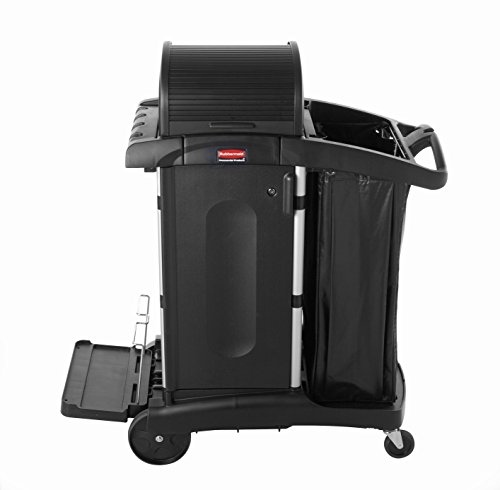 Rubbermaid Commercial Housekeeping Cart, Black, 53-1/2-Inch Height, 48-1/4-Inch Length X 22-Inch Width Rubbermaid 2 Door Cabinet