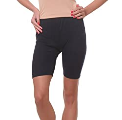 TeeMoods Women's Cycling Shorts-Navy