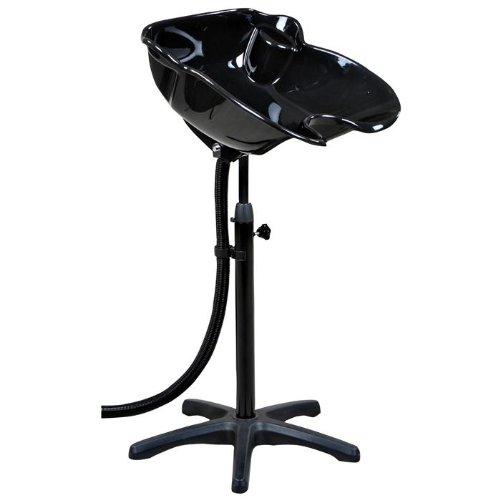 """MacLaine"" Portable Black Adjustable Shampoo Bowl"