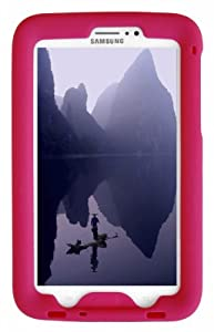 Bobj Rugged Case for Samsung Galaxy Tab 3 7-inch Tablet, Wi-Fi and 3G/4G Models. Also for Tab3 7-inch Kid's Edition. (not for Tab3 Lite, Tab2, or earlier models) - BobjGear protective cover (Rockin' Raspberry)