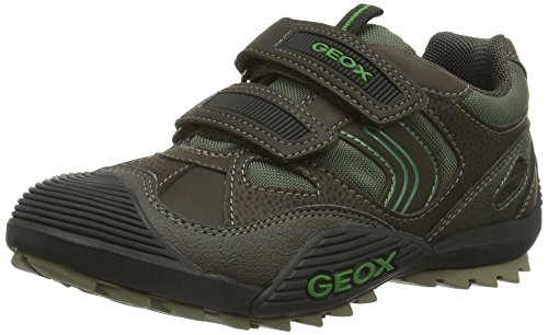 Geox JR SAVAGE, Sneaker Bambino, Marrone (Braun (COFFEE/FORESTC6449), 35 (2.5 uk)