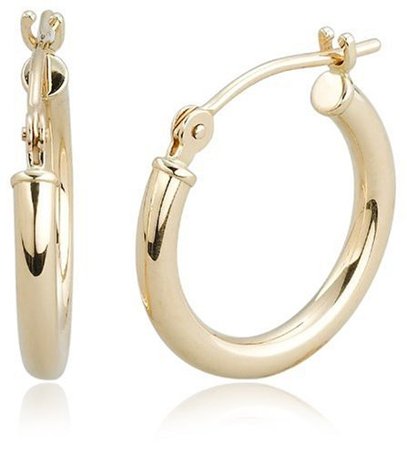 14k Yellow Gold Small Hoop Earrings