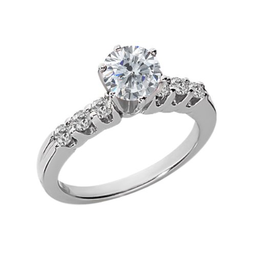 ... 47 Ct Round GH and White Diamond 925 Sterling Silver Engagement Ring
