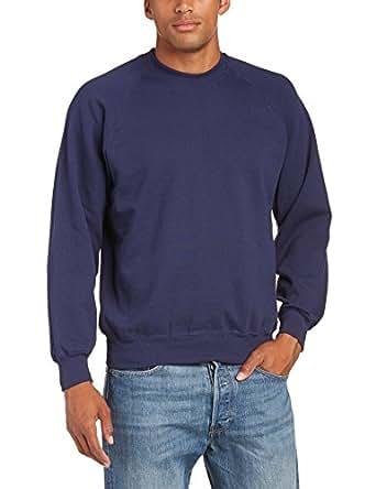 Fruit of the Loom - 12200B - Sweat-shirt - homme - Bleu (Az Dunkelblau) - Taille S (DE: 44/46)