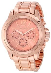 Xoxo women 39 s xo5591 rose gold tone bracelet watch watches for Watches xoxo