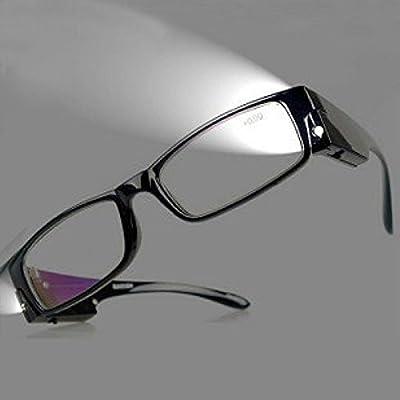 Fashion Design Optics Led Reading Glasses Light Glasses Oculos Degree Unisex Eyeglasses +1.0, +1.5, +2.0, +2.5, +3, +3.5, +4