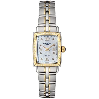 "Raymond Weil Women's 9740-STS-00995 ""Parsifal"" 18k Gold-Plated Watch with Diamonds"