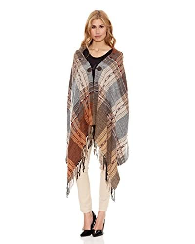 Peace & Love Poncho Topaz Multicolor