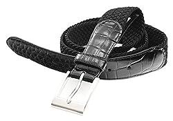 7916-BLK-48 - Big & Tall Marco LTD Men's Elastic Braided Dress Belt (fits 47